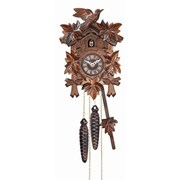 River City Clocks 12 Melody Quartz Cuckoo Clock w/ 5 Leaves and Bird
