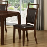 Monarch Specialties Inc. Side Chairs in Brown (Set of 2)