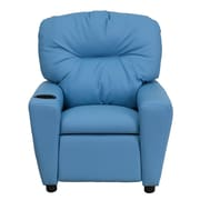 Flash Furniture Contemporary Vinyl Kids Recliner W/Cup Holder, Light Blue