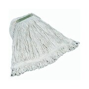 Rubbermaid Commercial Products 1'' Super Stitch Cotton Mop Heads with Green Headband