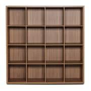 Bestar Clic Furniture 4 Row and 4 Column Open Cabinet; Italian Walnut
