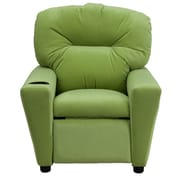 Flash Furniture Contemporary Microfiber Kids Recliner W/Cup Holder, Avocado