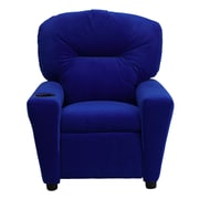 Flash Furniture Contemporary Microfiber Kids Recliner W/Cup Holder, Blue