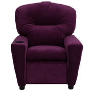Flash Furniture Contemporary Microfiber Kids Recliner W/Cup Holder, Purple
