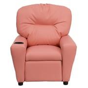 Flash Furniture Contemporary Vinyl Kids Recliner W/Cup Holder, Pink