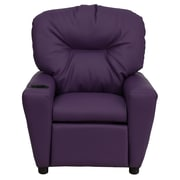 Flash Furniture Contemporary Vinyl Kids Recliner W/Cup Holder, Purple