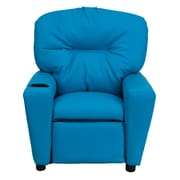 Flash Furniture Contemporary Vinyl Kids Recliner W/Cup Holder, Turquoise