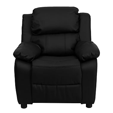 Flash Furniture Deluxe Wood Recliner, Black (BT7985KIDBKLEA)
