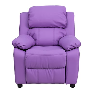 Flash Furniture Deluxe Wood Recliner, Lavender (BT7985KIDLAV)