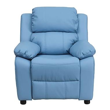 Flash Furniture Deluxe Wood Recliner, Light Blue (BT7985KIDLTBLUE)