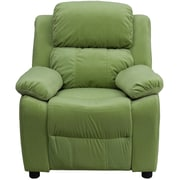 Flash Furniture Deluxe Contemporary Heavily Padded Microfiber Kids Recliner W/Storage Arms, Avocado