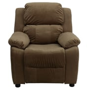 Flash Furniture Deluxe Contemporary Heavily Padded Vinyl Kids Recliner W/Cup Holder, Brown