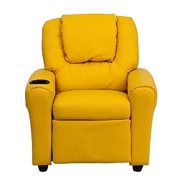 Flash Furniture Wood Recliner, Yellow (DGULTKIDYEL)