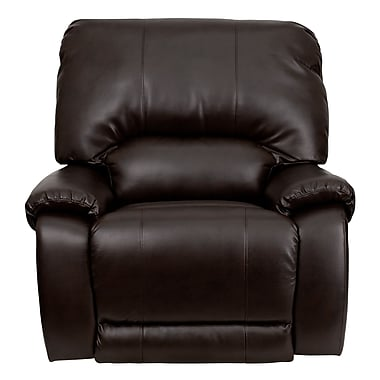 Flash Furniture OverStuffed Leather Lever Rocker Recliner, Brown