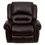 Flash Furniture Plush Leather Rocker Recliner, Brown