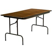 Flash Furniture 60 x 30 Laminate Rectangular Folding Banquet Table, Walnut