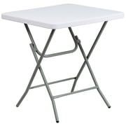 Flash Furniture 26 3/4 Plastic Square Folding Table, Granite White