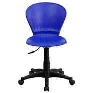Flash Furniture Plastic Mid-Back Swivel Task Chair, Blue