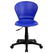 Flash Furniture Plastic Mid-Back Swivel Task Chair, Blue