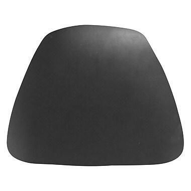 Flash Furniture Hard Vinyl Chiavari Cushion For Wood Chiavari Bar Stools, Black