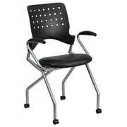 Flash Furniture Galaxy Mobile Nesting Chair with Arms and Black Leather Seat (WLA224VLEAA)