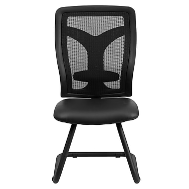 Flash Furniture LeatherSoft Leather Executive Office Chair, Armless, Black (WLF065VLEA)