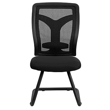 Flash Furniture LeatherSoft Fabric Executive Office Chair, Armless, Black (WLF065VMF)