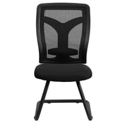 Flash Furniture WL-F065V-MF-GG LeatherSoft Armless Executive Side Chair, Black