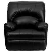 Flash Furniture Contemporary Apache Leather Rocker Recliner, Black