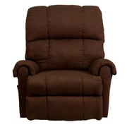 Flash Furniture Contemporary Flatsuede Microfiber Rocker Recliner, Chocolate