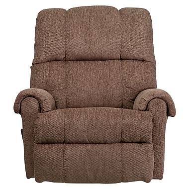 Flash Furniture Contemporary Tahoe Chenille Rocker Recliner, Light Brown/Beige