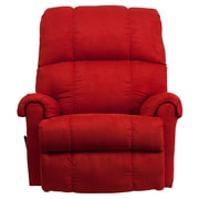 Flash Furniture Contemporary Flatsuede Rock Microfiber Rocker Recliner, Red
