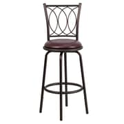 Flash Furniture 30 Leather Dual Height Counter/Bar Stool With Curved Designer Back, Brown
