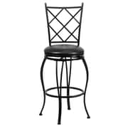 "Flash Furniture 29 1/2"" Leather Bar Stool With Cross Back, Black"