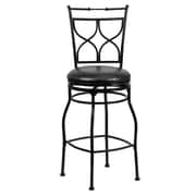 Flash Furniture 29 Leather Bar Stool With Curved Back, Black