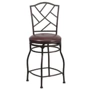 Flash Furniture 24 Leather Counter Height Stool With Arched Back, Brown