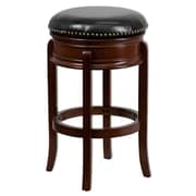 "Flash Furniture 30"" Leather Backless Bar Stool, Black/Cherry"