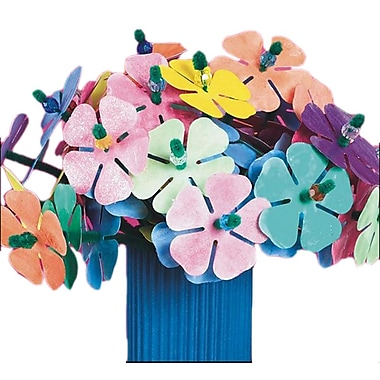 Geeperz™ Watercolor Flowers Craft Kit, 300/Pack
