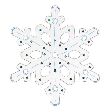 Geeperz™ Snowflake Craft Kit, 12/Pack