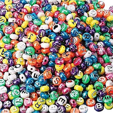 S&S® Pearl Alpha Beads Bag, 600/Bag