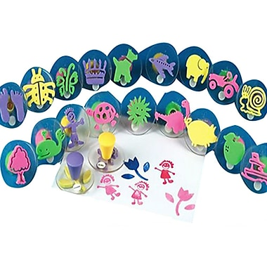 S&S AS613 Multicolor Squishers Foam Stamps, 2.25