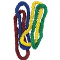 S&S® 1 1/2in. X 36in. Assorted Colors Poly Leis, 144/Pack