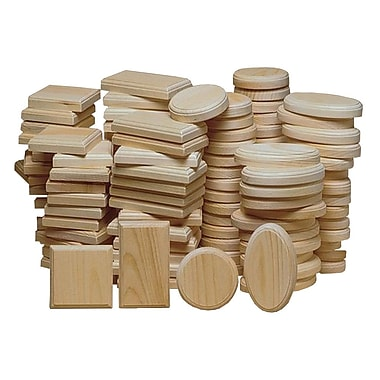 S&S® Unfinished Pine Plaque Assortment, 48/Pack