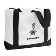 "HBH™ 12"" x 6 1/2"" x 14"" "" Bridesmaid"" Tote Bag, Black"