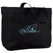 "HBH™ 12"" x 6 1/2"" x 14"" ""Bride"" Tote Bag, Black"