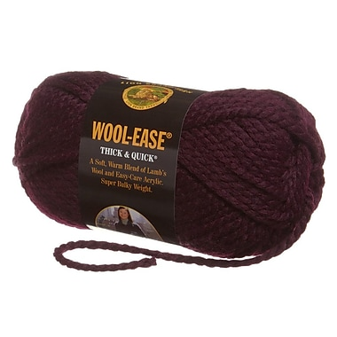 Wool-Ease Thick & Quick Yarn, Eggplant