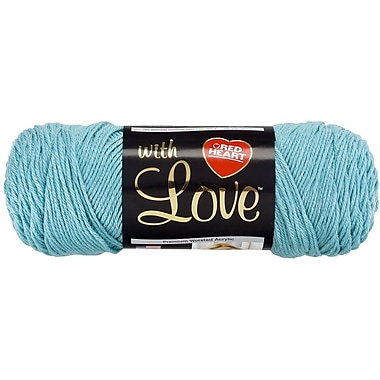 Red Heart With Love Yarn, Iced Aqua