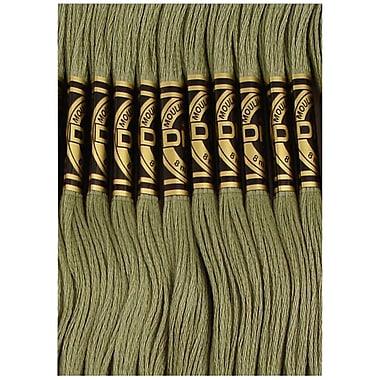 DMC Six Strand Embroidery Cotton, Medium Green Grey