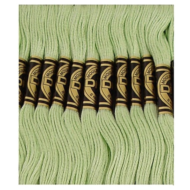 DMC Six Strand Embroidery Cotton, Very Light Pistachio Green
