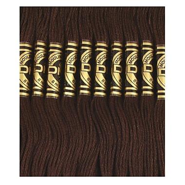 DMC Six Strand Embroidery Cotton, Black Brown
